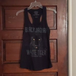 Tops - Black tank top size small with Jaguar face